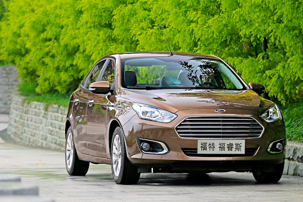 Ford Escort China 2015. Picture courtesy of auto.163.com