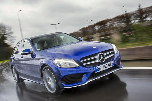 Mercedes C-Class Austria February 2015. Picture courtesy of largus,fr