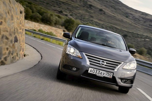 Nissan Sentra Russia December 2014. Picture courtesy of zr.ru