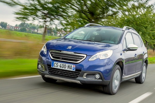 Peugeot 2008 France January 2015. Picture courtesy largus.fr