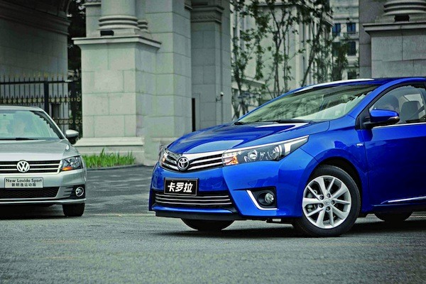 Toyota Corolla VW Lavida China December 2014. Picture courtesy of iweeklyauto.com