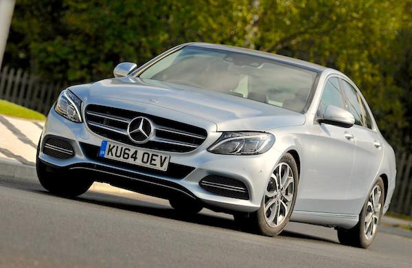 Mercedes C-Class UK January 2015. Picture courtesy whatcar.co.uk