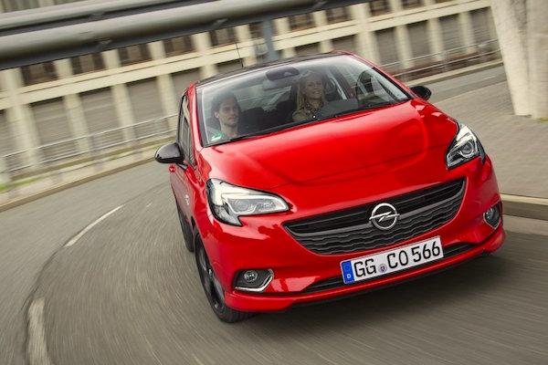 Opel Corsa Europe January 2015