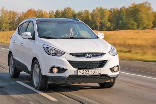 Hyundai ix35 Russia February 2015. Picture courtesy zr.ru