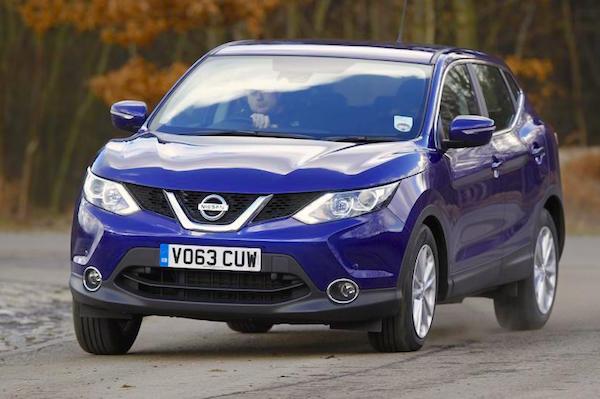 Nissan Qashqai UK February 2015. Picture courtesy autocar.co.uk