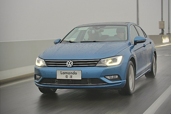 VW Lamando China February 2015. Picture courtesy xcar.com.cn