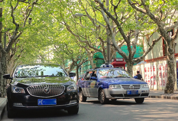 5. Buick LaCrosse VW Santana taxi Shanghai