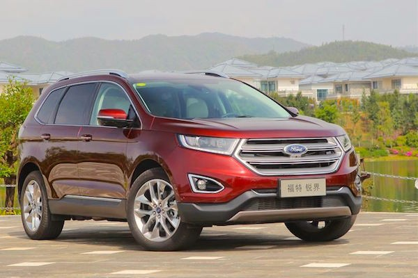 Ford Edge China May 2015. Picture courtesy emao.com