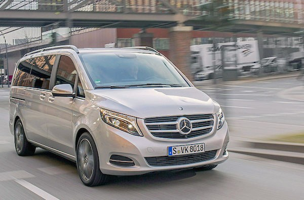 Mercedes V Class Germany May 2015. Picture courtesy autobild.de