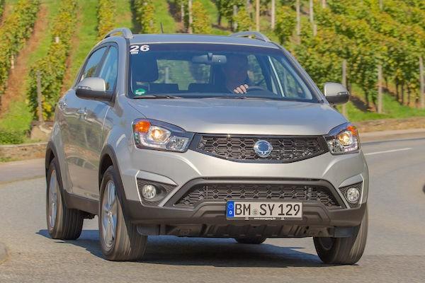 Ssangyong Korando Iran June 2015. Picture courtesy auto-motor-und-sport.de