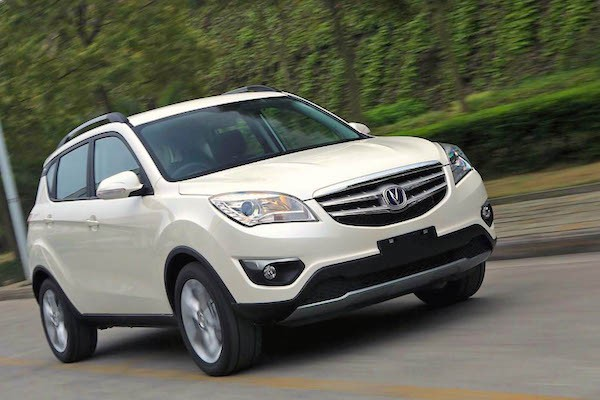 Changan CS35 Iran March 2015. Picture courtesy pedal.ir