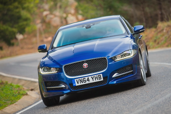 Jaguar XE Europe May 2015. Picture courtesy largus.fr