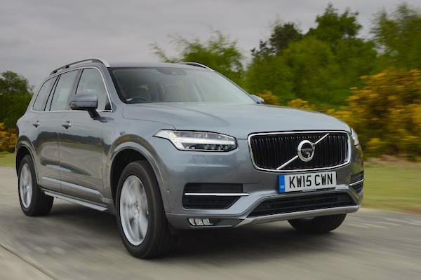 Volvo XC90 Europe December 2015. Picture courtesy autoexpress.co.uk