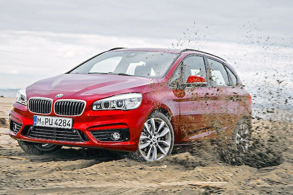BMW 2 Series Active Tourer Germany July 2015. Picture courtesy autobild.de
