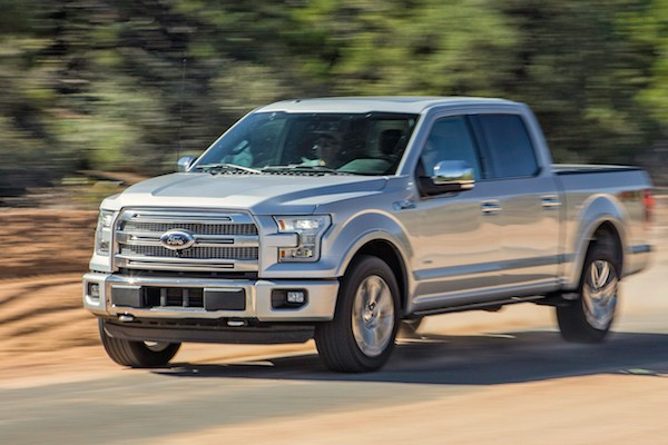 Ford F150 USA July 2015. Picture courtesy motortrend.com