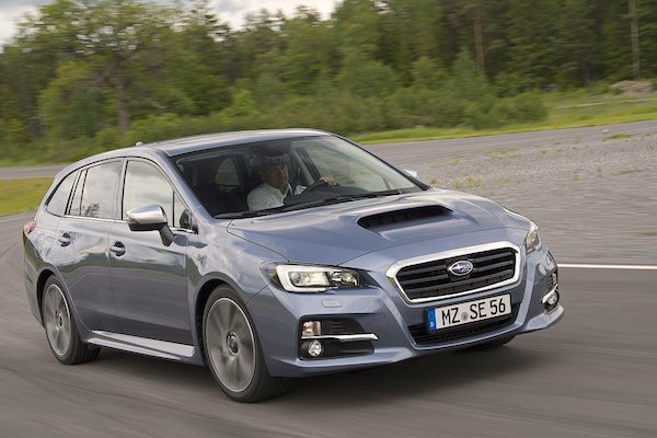 Subaru Levorg Switzerland July 2015. Picture courtesy gmx.ch