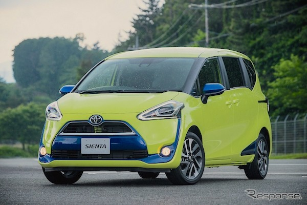 Toyota Sienta Japan July 2015. Picture courtesy response.jp