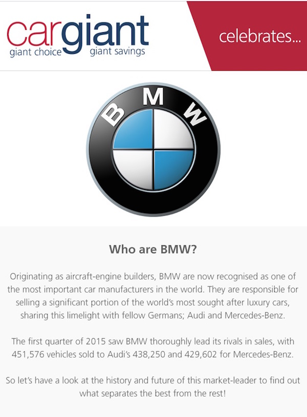 Cargiant BMW Infographic - Section 1