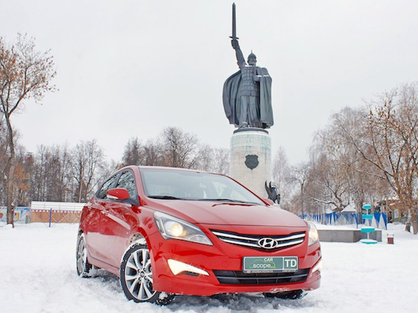 Hyundai Solaris Russia March 2016. Picture courtesy carscope.ru