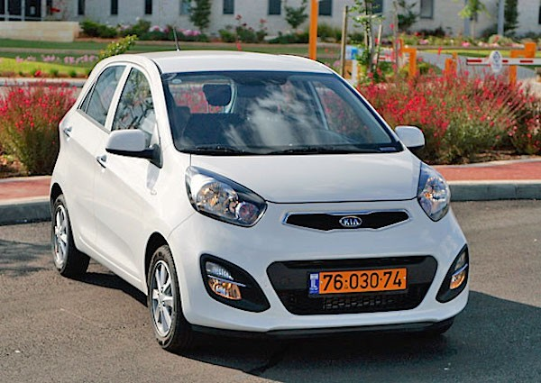 Kia Picanto Israel September 2015. Picture courtesy cartube.co.il
