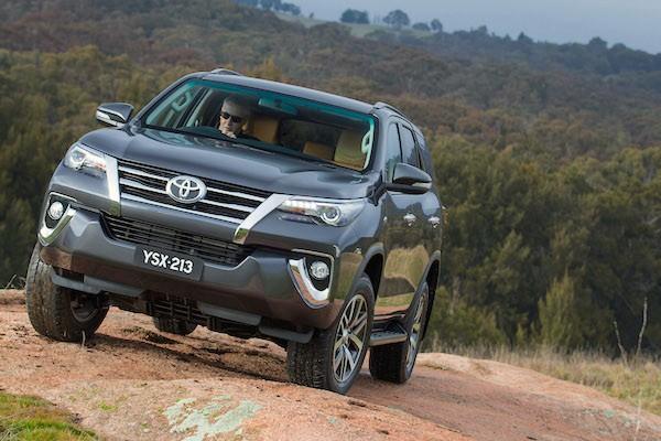 Toyota Fortuner Thailand October 2015