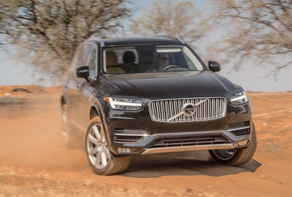 Volvo XC90 USA October 2015. Picture courtesy motortrend.com