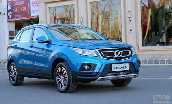 Beijing Auto Senova X55 China December 2015. Picture courtesy auto.sohu.com