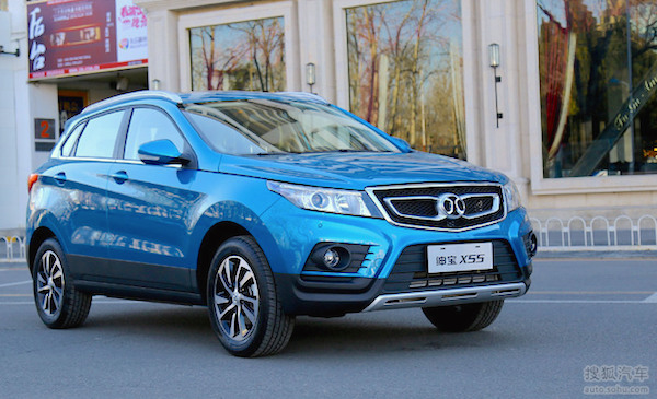 Beijing Auto Senova X55 China December 2015. Picture courtesy auto.sohu.com