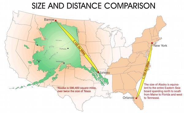Alaska size comparison, Picture courtesy usmarshals.gov