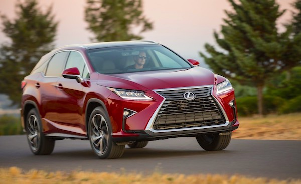 Lexus RX USA February 2016. Picture courtesy caranddriver.com
