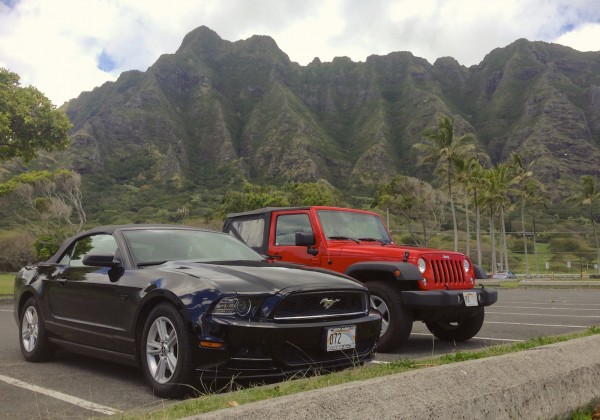8. Ford Mustang Jeep Wrangler Oahu