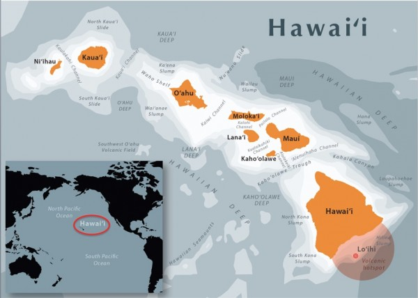Hawaii map by Mapbliss
