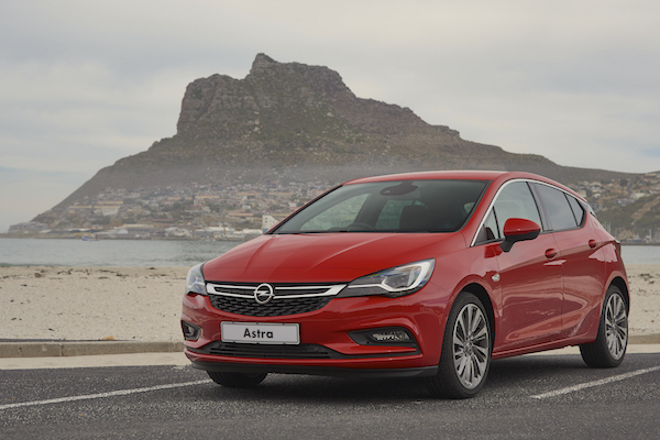 Opel Astra South Africa April 2016
