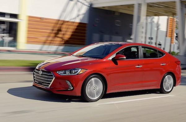 Hyundai Elantra USA May 2016. Picture courtesy caranddriver.com