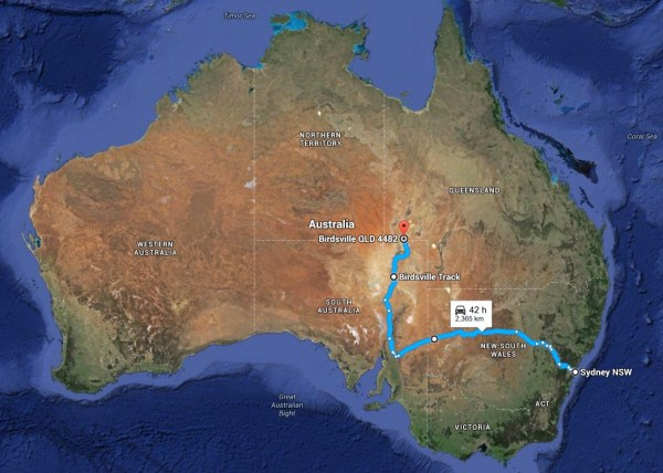 Map to Birdsville