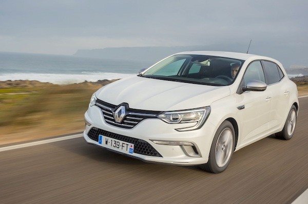 Renault Megane France September 2016. Picture courtesy largus.f