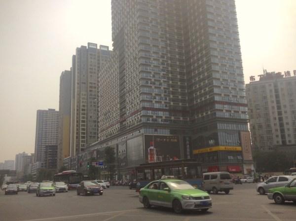 Chengdu street scene 2  Chengdu China 2016