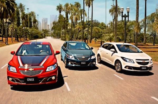 Chevrolet Onix Brazil June 2016. Picture courtesy carros2016.com