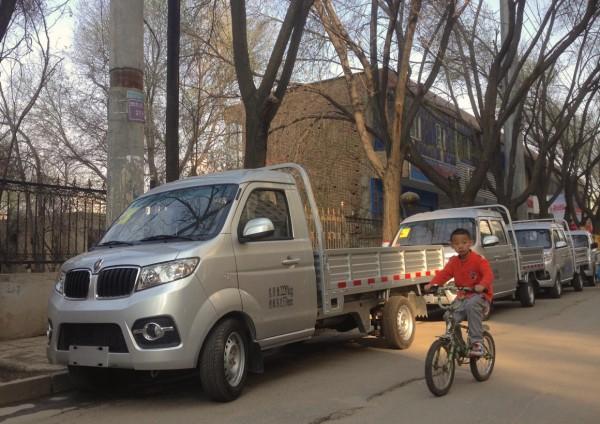 Jinbei mini truck Xining China 2016