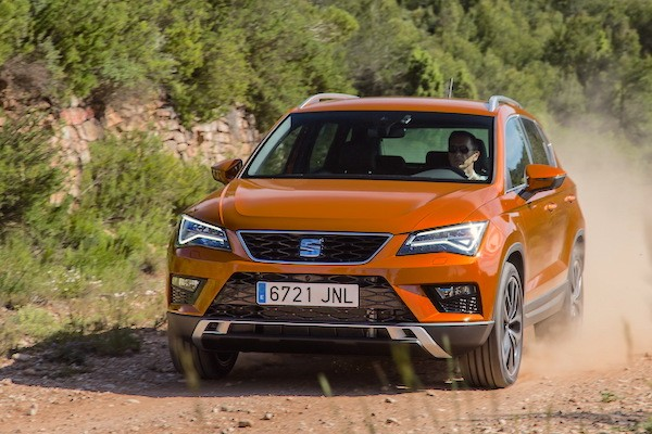 Seat Ateca Portugal July 2016. Picture courtesy largus.fr