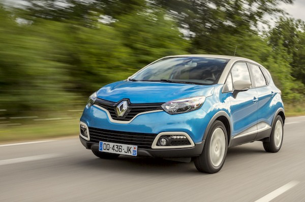 Renault Captur Europe 2016. Picture courtesy largus.fr