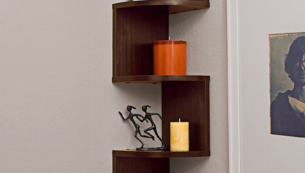 Large Corner Wall Mount Shelf (Corner Shelves Wall Mount