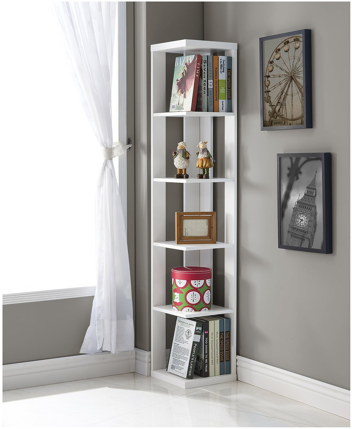 modern corner shelves for living room kitchen extension ideas top 10 white finish wood wall