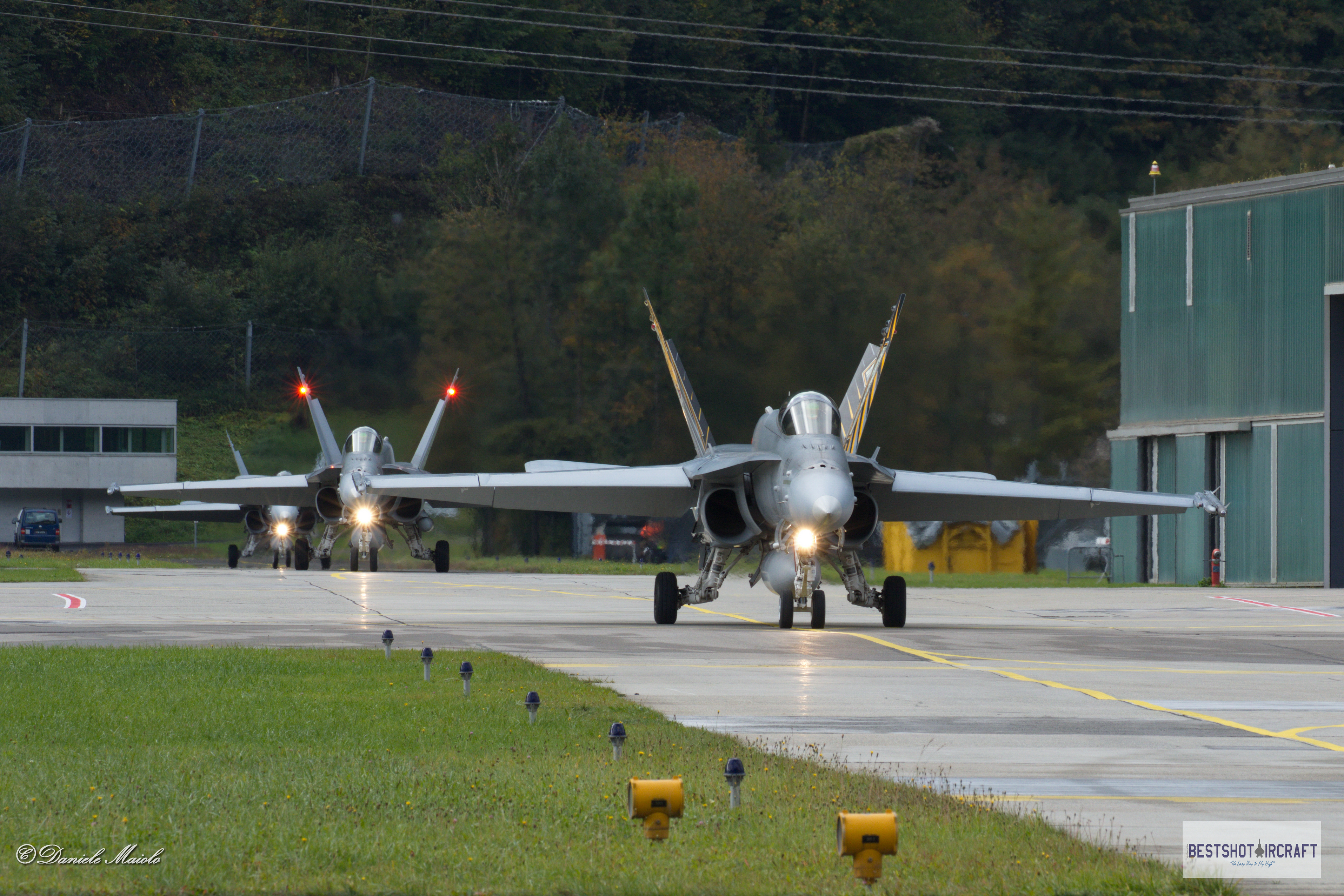 Swiss Hornets taxiing before take off