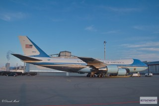 Air Force One parked at ZRH Airport