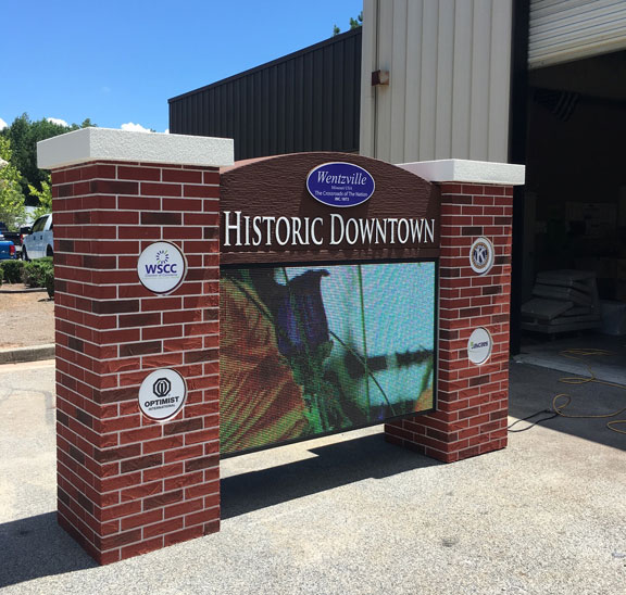 Full-Color LED Sign Monument before shipping our of state