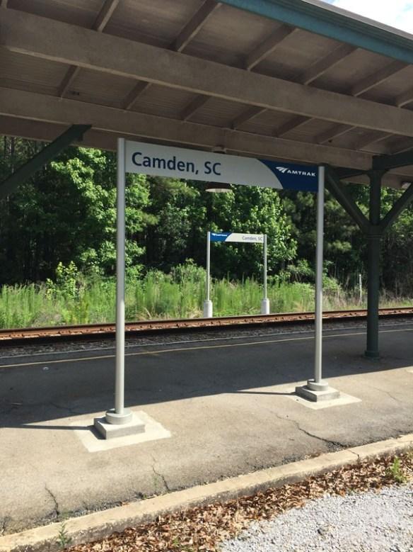 Amtrak Camden, SC Station Location Markers