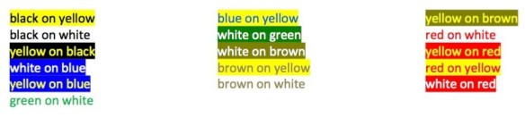Text Colors On Colored Backgrounds