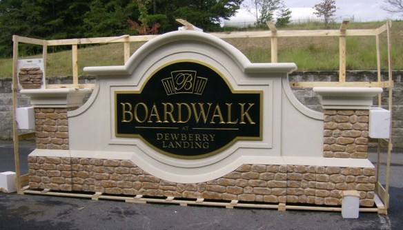 Faux Masonry Sign Monuments - Boardwalk Faux Masonry Sign Monument