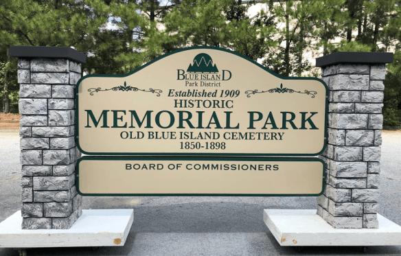 Blue Island Park District Entrance Sign - ColorCore Graphics
